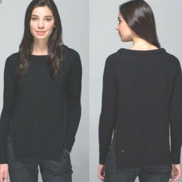 Lululemon Yin To You Sweater Black Long Sleeve